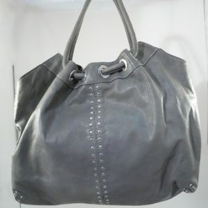 Michael Kors Large Grey Astor Studded Ring Tote